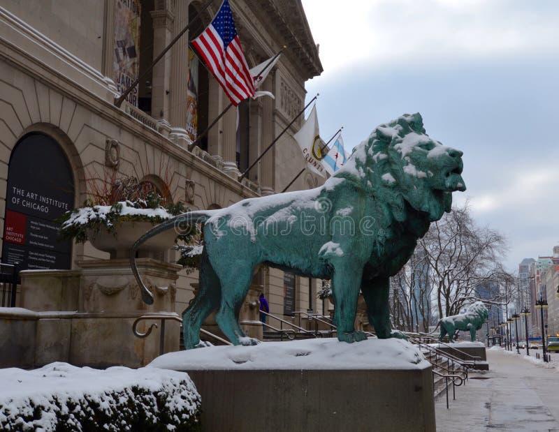 Leones del invierno imagen de archivo