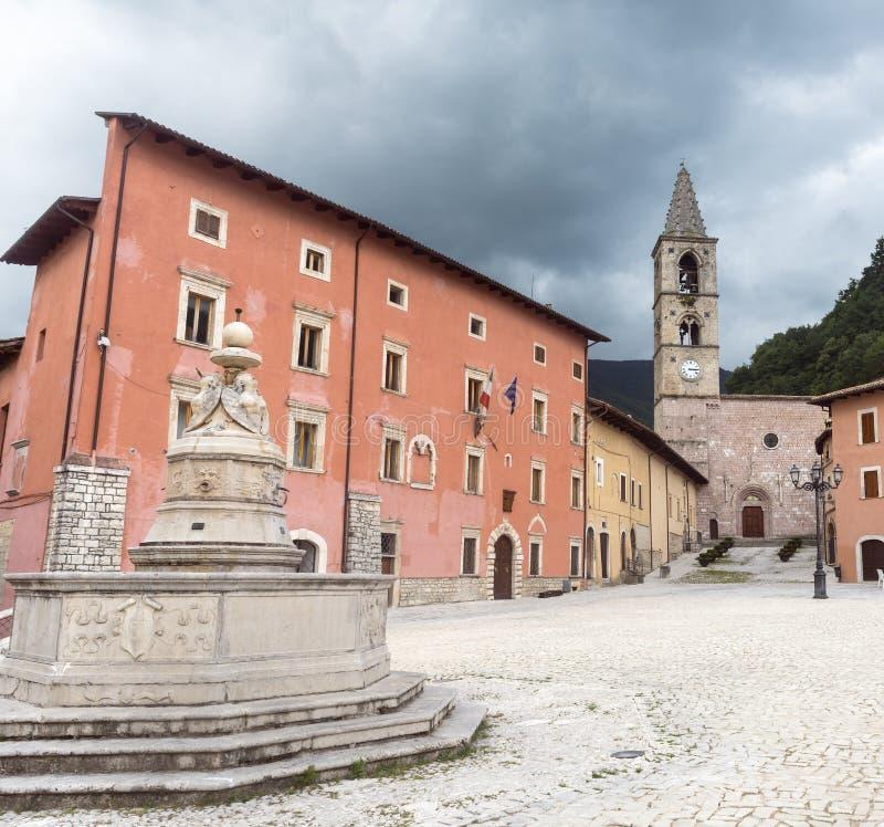 Leonessa (Rieti, Italien) arkivbilder