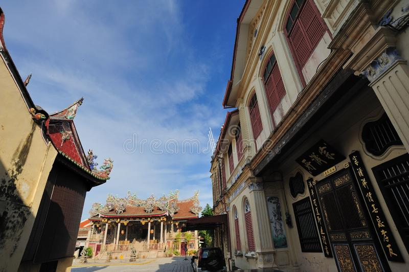 Leong San Tong Khoo Kongsi royaltyfria bilder