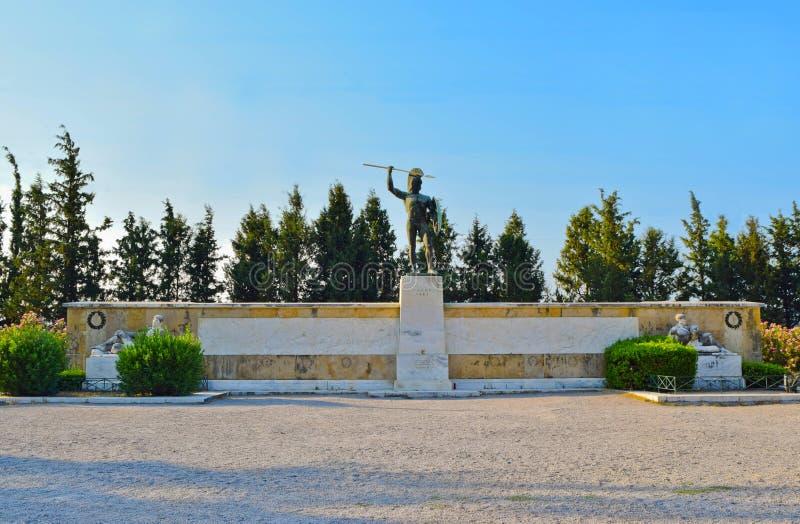 Leonidas zabytek, Thermopylae zdjęcia royalty free