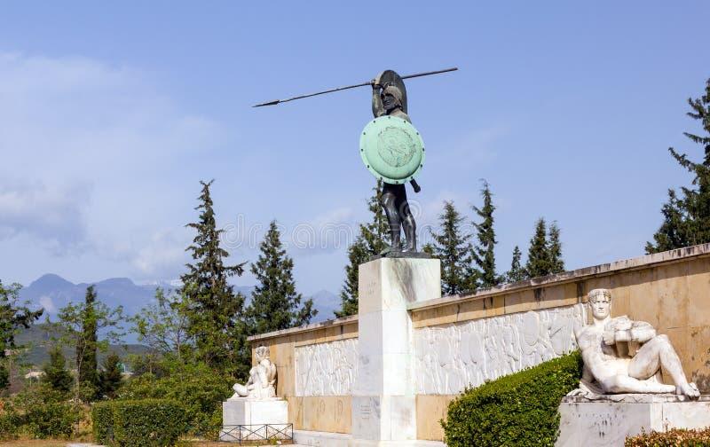 Leonidas zabytek, Thermopylae, Grecja zdjęcia stock