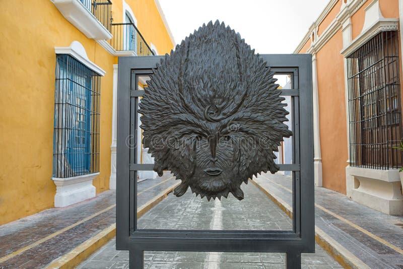 Leonora Carrington statua w Campeche Meksyk zdjęcie royalty free