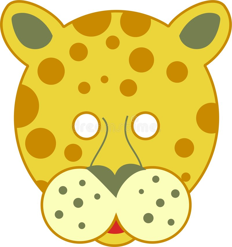 leopard μάσκα διάστικτη ελεύθερη απεικόνιση δικαιώματος