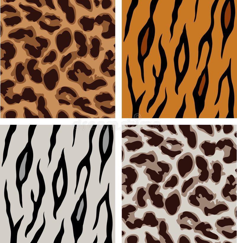 Free Leopard And Tiger Patterns Stock Photography - 4278662