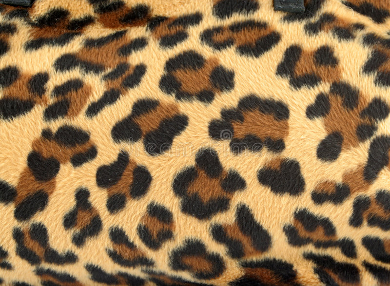 Leopard background. Golden and black furry leopard print backgound stock photo