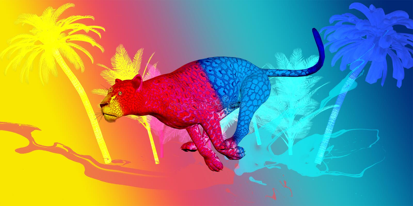 Leopard Colored stock images
