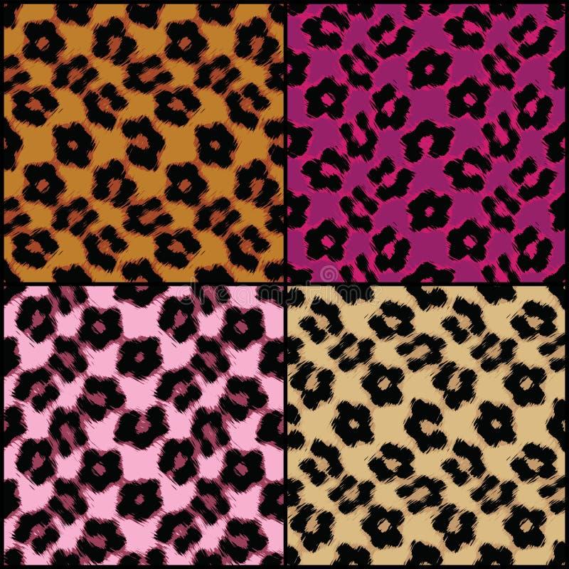Leopard-Druck-Fliesen lizenzfreie abbildung