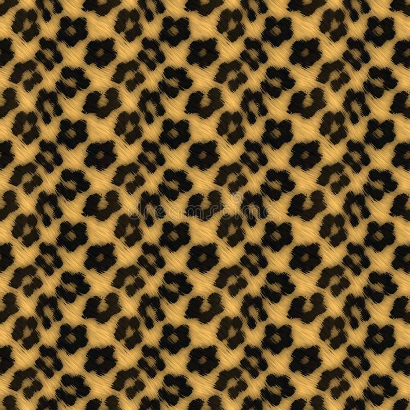 Leopard-Druck-Muster stock abbildung