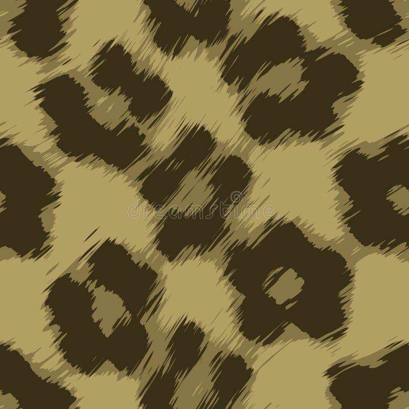 Leopard-Druck-Vektor stock abbildung