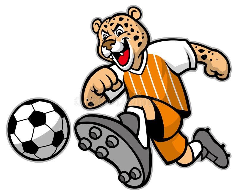 Leopard football mascot vector illustration