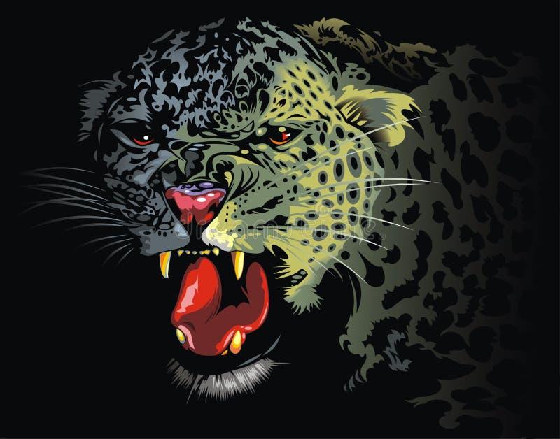 Leopard från djungeln stock illustrationer