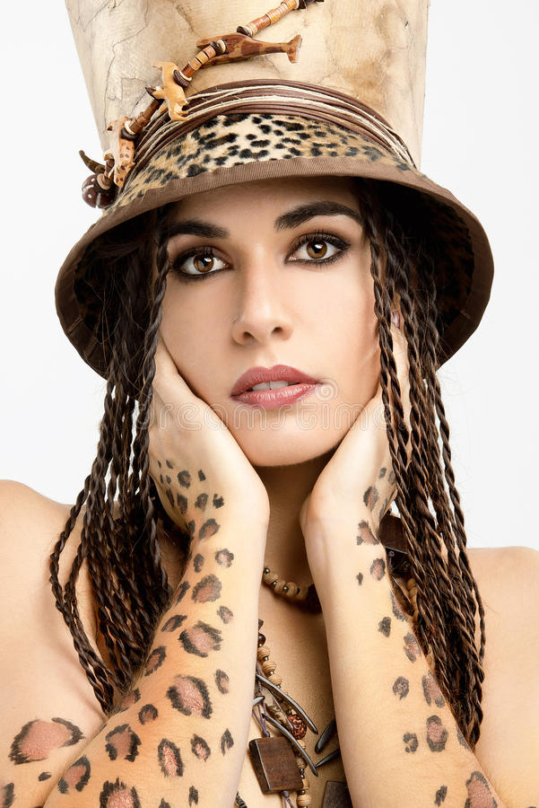 Leopard Girl Royalty Free Stock Image