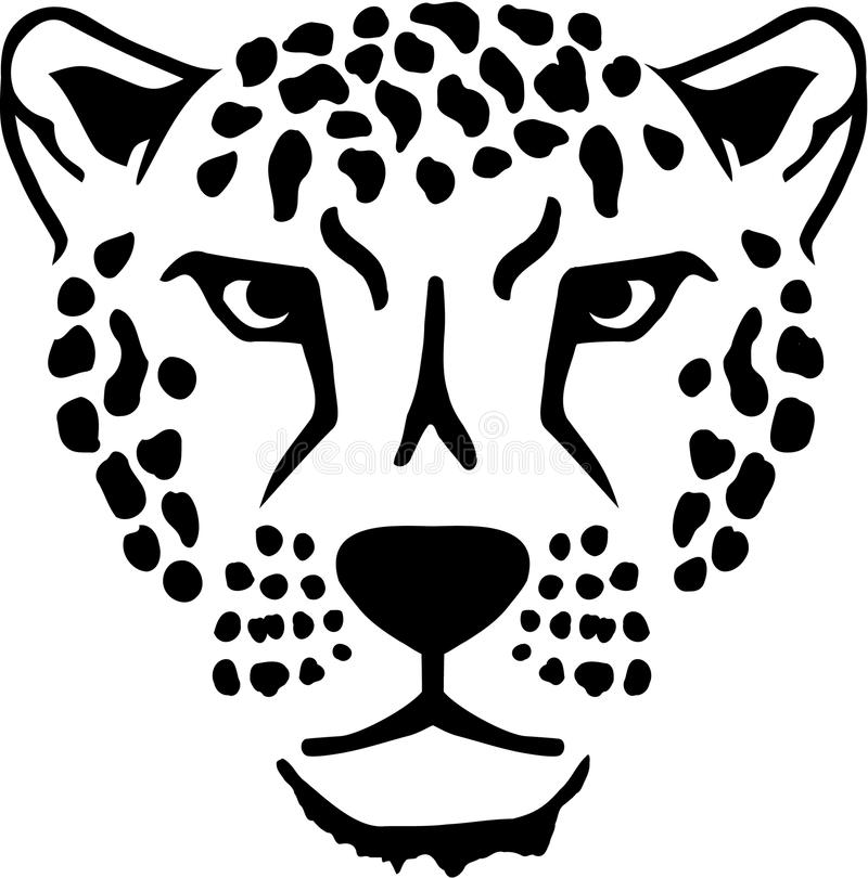 Leopard head animal stock illustration