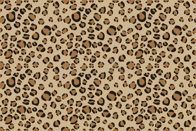 Leopard-Hintergrund Skizzenzeichnung Modedesign Abstraktes nahtloses Muster Textilgraphik Tierdruck tapete verpackung vektor abbildung