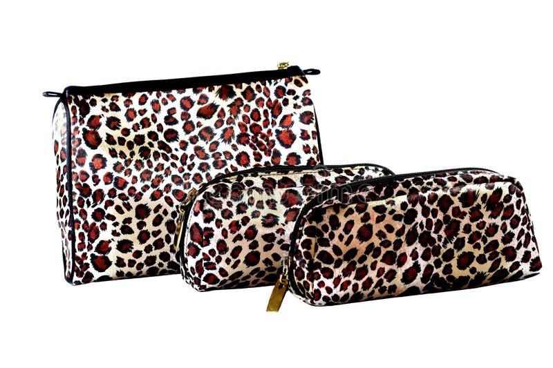 Leopard Make-up Bags stock photography