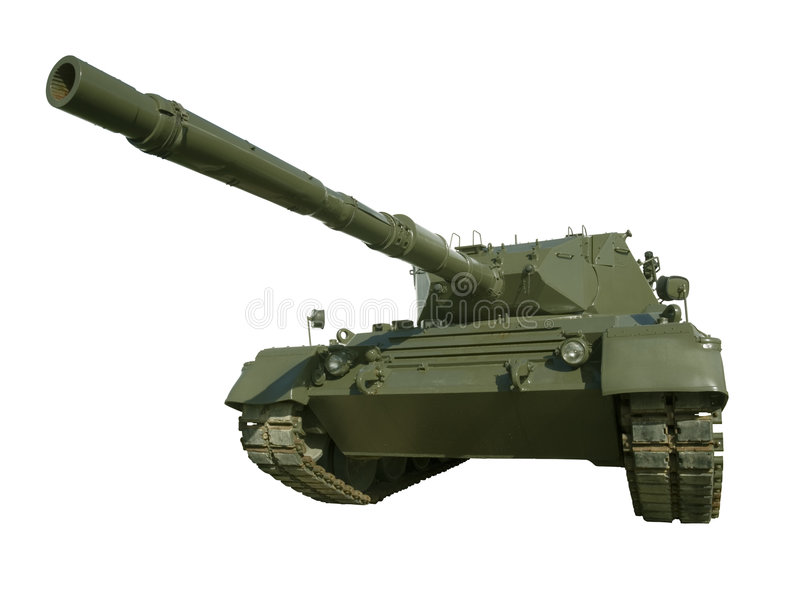 Download Leopard Military Tank On White Stock Image - Image: 4352781