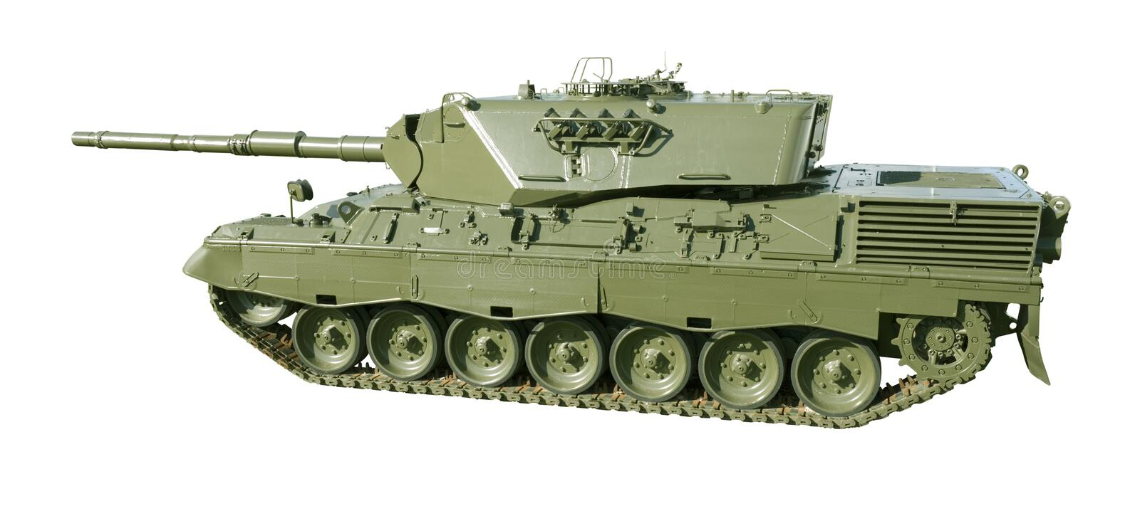 Download Leopard Military Tank On White Stock Photo - Image of armour, green: 4434416
