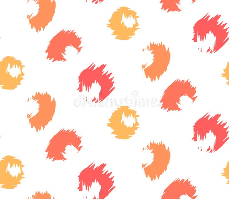 Leopard pattern coral royalty free illustration