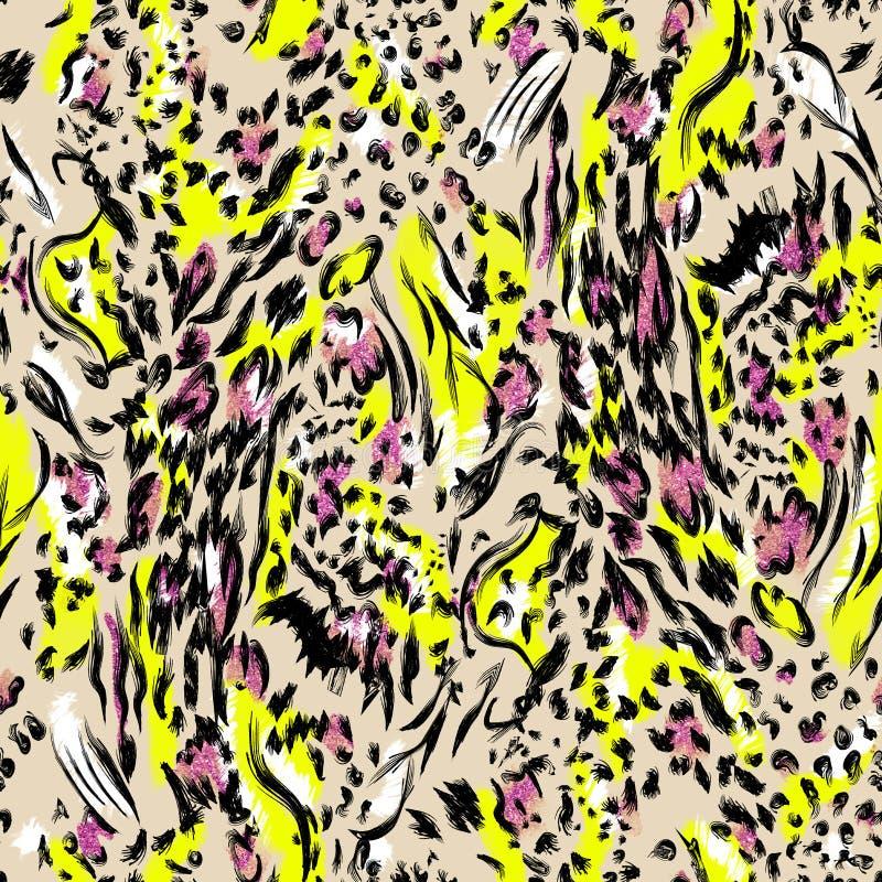 Leopard pattern design, illustration background royalty free illustration
