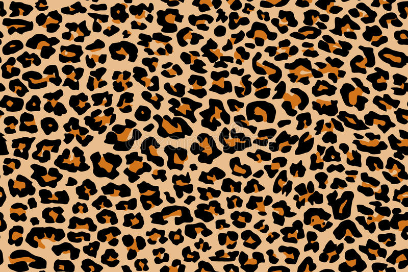 Leopard pattern texture repeating seamless vector illustration