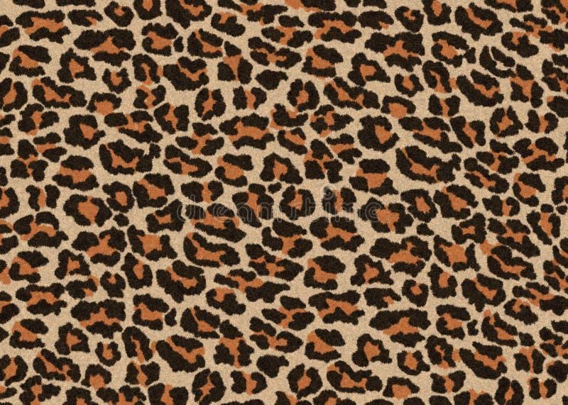 Leopard Pelzstruktur, Teppichboden, nahtloser jaguarischer Hauthintergrund, braune und orangefarbene Farbe, glatt, flüssig und we lizenzfreie abbildung