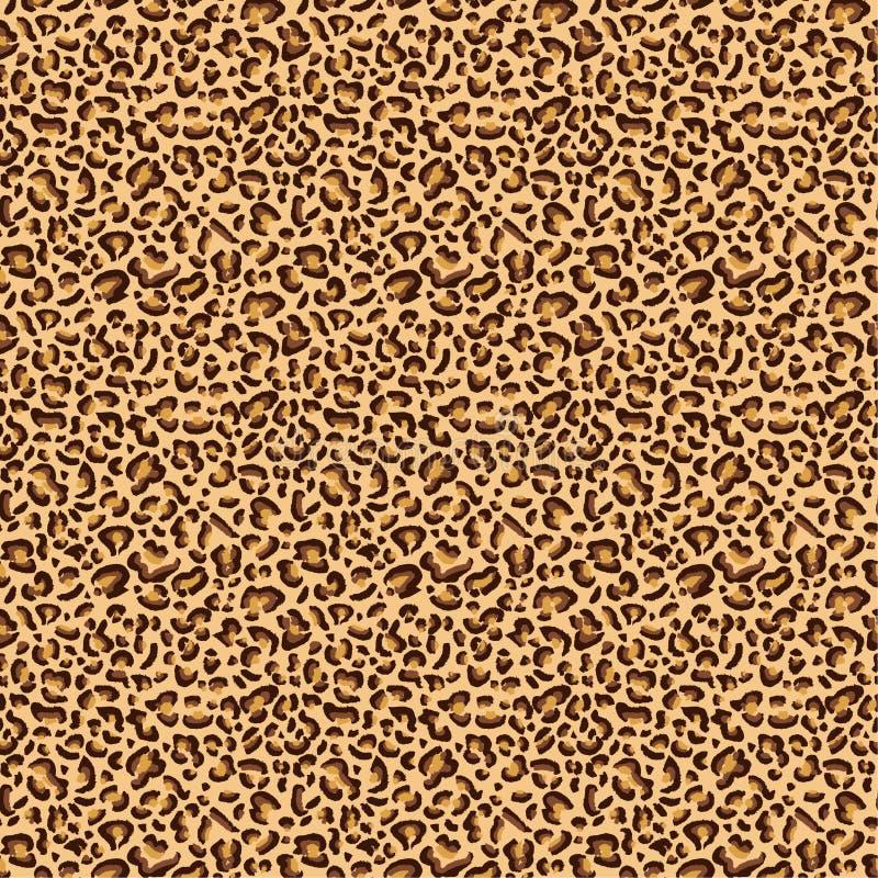Leopard prickig textur för gepard, sömlös modelldesign för leopard, bakgrund stock illustrationer