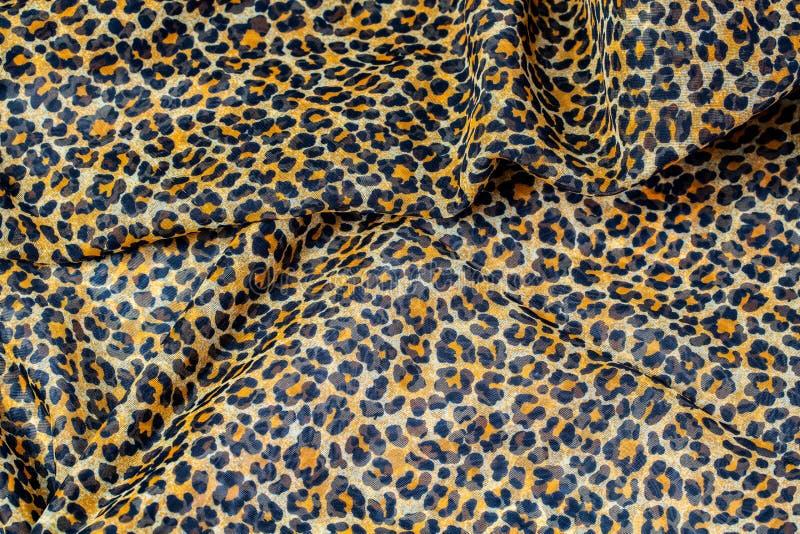 Leopard print, fabric pattern royalty free stock image