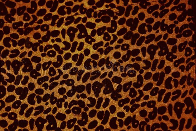 Leopard print vintage banner. Leopard print fabric vintage texture banner royalty free stock photos