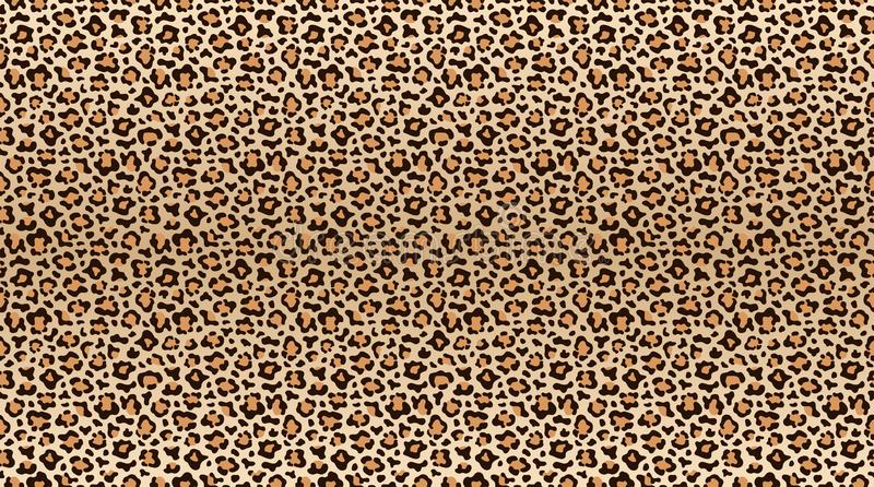 Leopard print pattern. Seamless pattern of leopard skin. Fashionable cheetah fur texture vector illustration