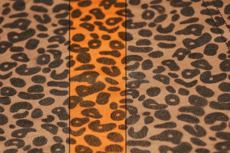 Leopard print vintage banner. Leopard print fabric vintage texture banner royalty free stock images