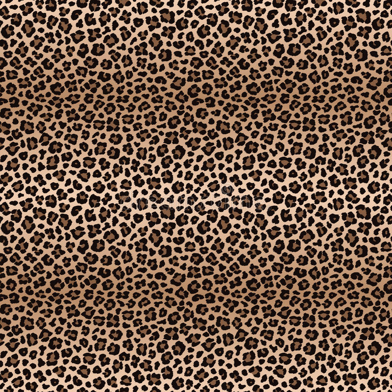 Leopard seamless pattern with color transitions royalty free illustration