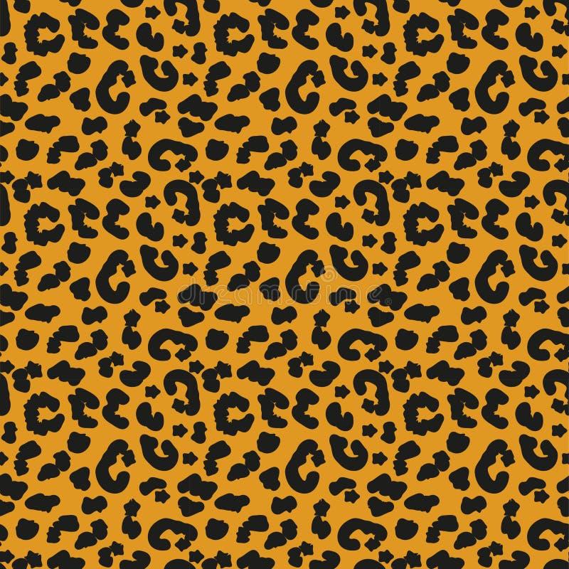 Leopard Skin Seamless Pattern African Animals Concept