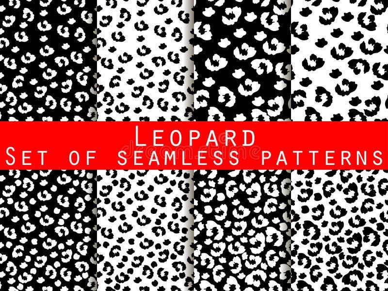Leopard skin seamless pattern. Monochrome color. royalty free illustration