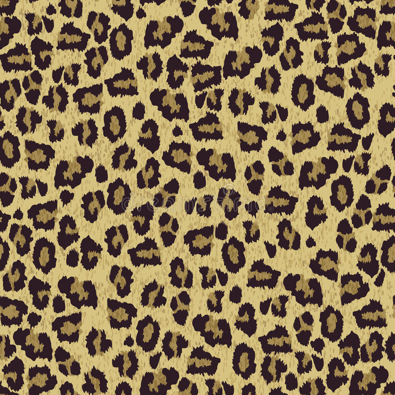 Leopard skin texture seamless patern stock illustration