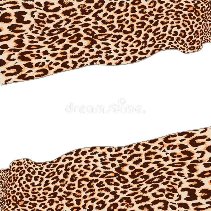 Leopard texture vector illustration