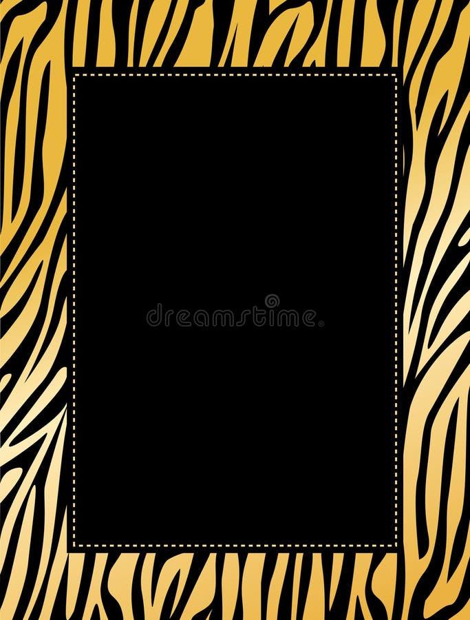 Leopard / tiger border vector illustration