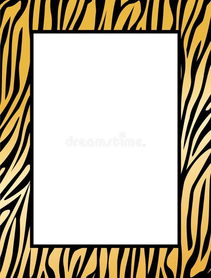Leopard / tiger border royalty free illustration