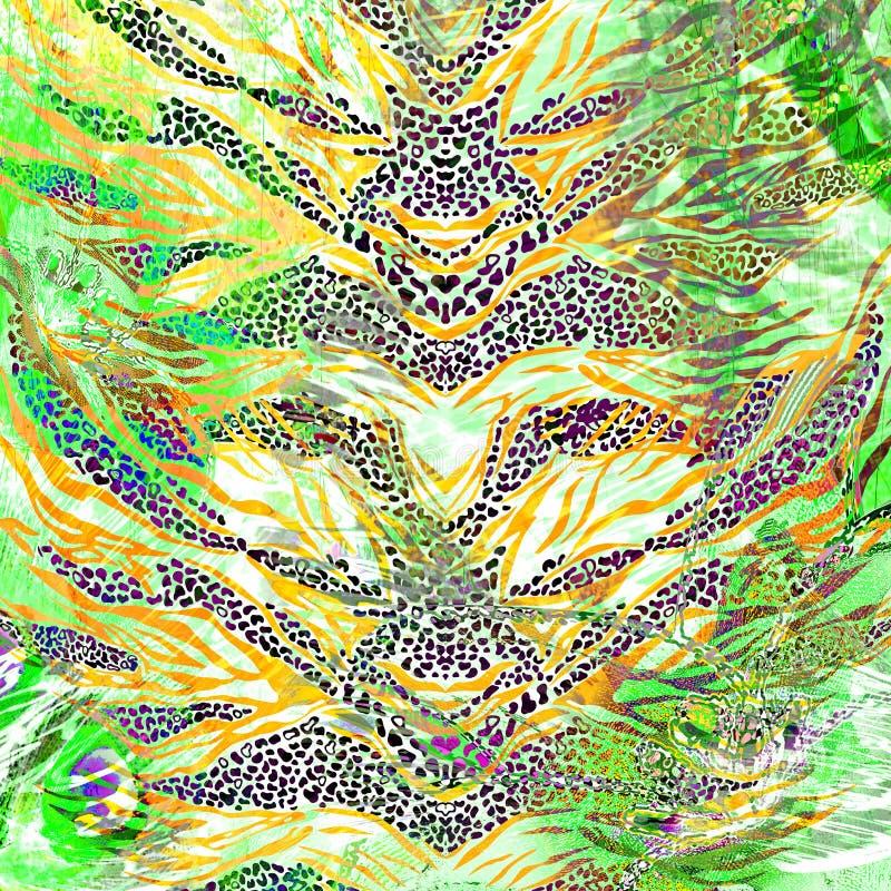 Leopard- und Zebrahintergrund stockfoto