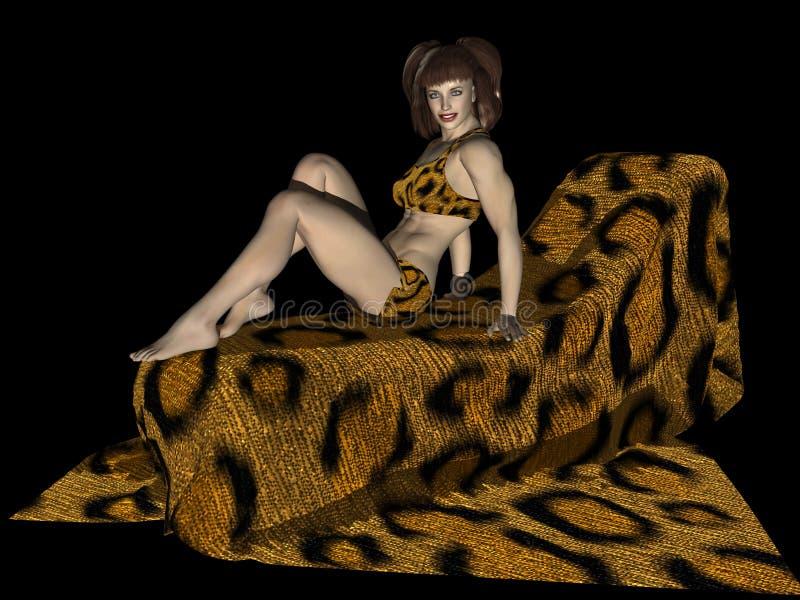 Leopardess royalty free stock image