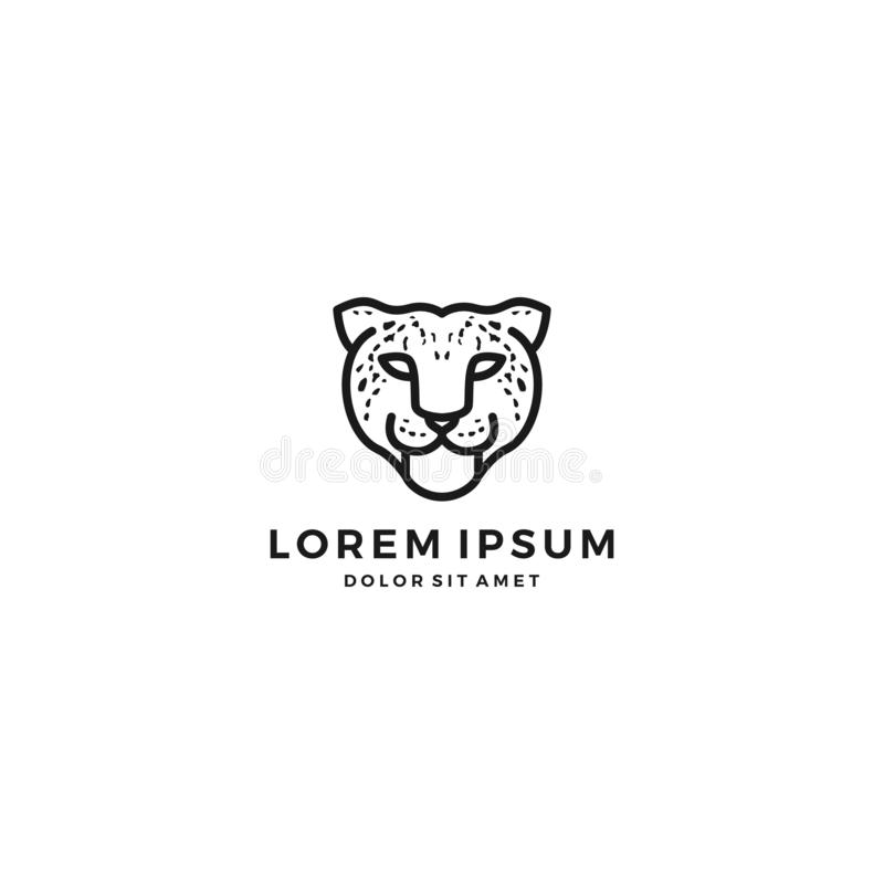 Leopardgepard-Hauptlogo lizenzfreie abbildung