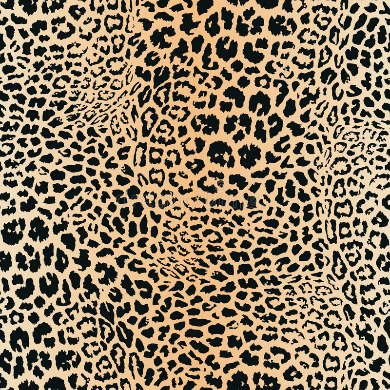 Leopardhudmodell seamless texturvektor E vektor illustrationer