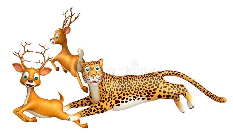 Leopardjagd lieb vektor abbildung