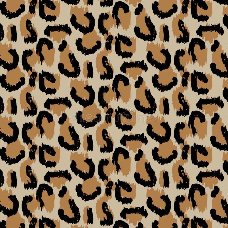 Leopardmodelldesign, vektorillustrationbakgrund Djur design Brunt apelsin som ?r gul stock illustrationer