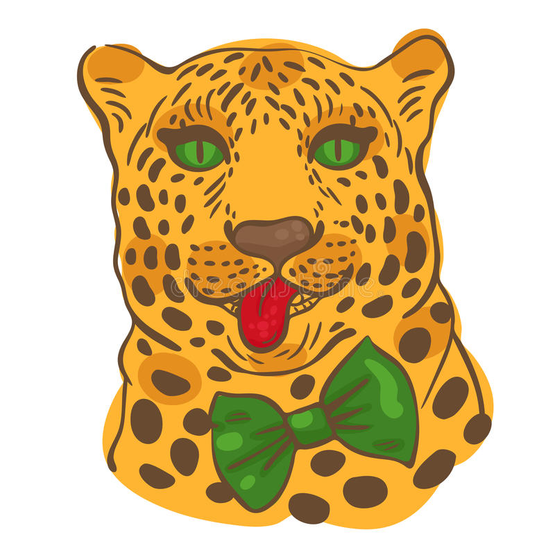 001 leopardo 01 ilustração stock