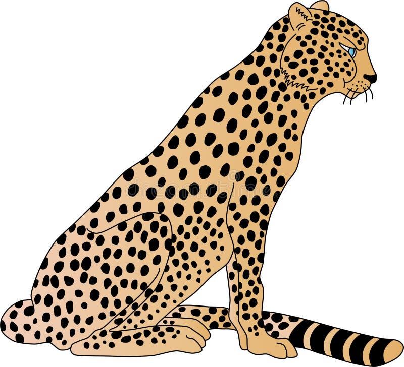 Leopardo ilustração royalty free