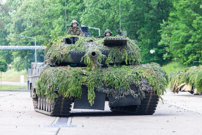 Leopardo alemão 2A6 do tanque de guerra fotos de stock