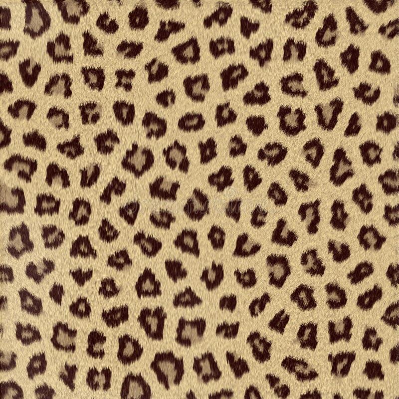 Leopardo animal manchado de la textura stock de ilustración