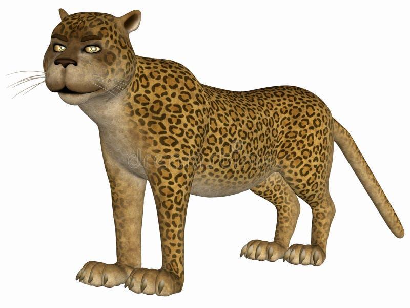 Leopardo de Toon stock de ilustración