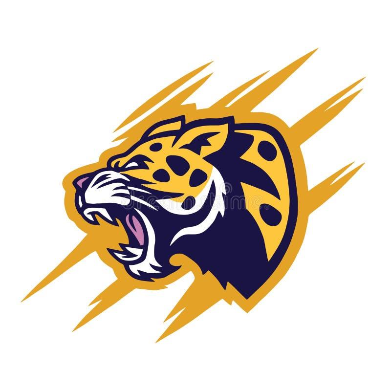 Leopardo Logo Design Vector stock de ilustración