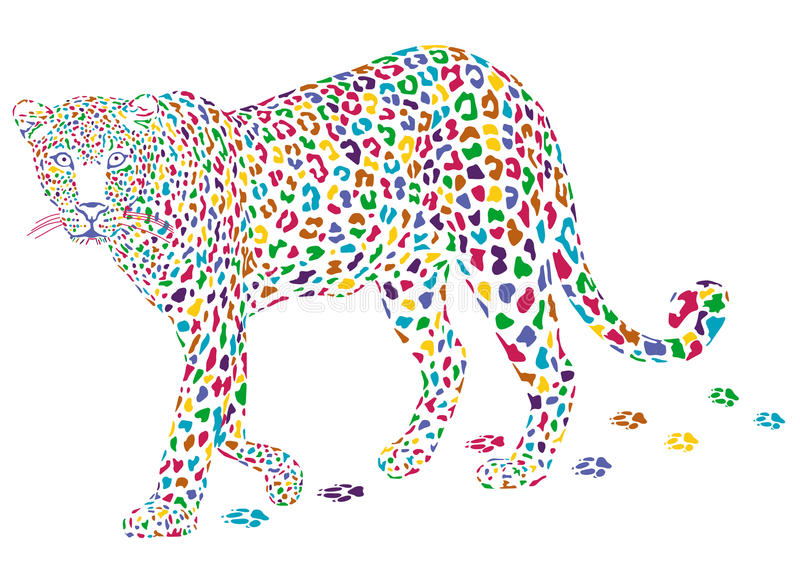 Leopardo Mais Colorido Imagens de Stock